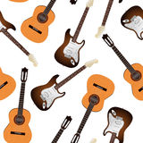 Guitar seamless pattern Royalty Free Stock Photos