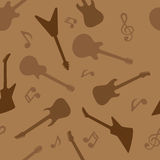 Guitar seamless pattern Royalty Free Stock Photography