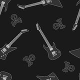 Guitar seamless pattern Stock Image
