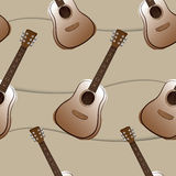 Guitar seamless pattern. Illustration of guitar seamless pattern Stock Images
