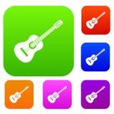 Guitar set collection Stock Photo