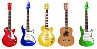 Guitar set illustration Stock Photography