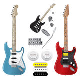 Guitar set vector.EPS10 Royalty Free Stock Image