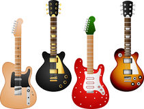 Guitar set 7 Stock Photography