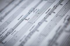 Guitar sheet music Stock Photo