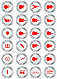 Guitar Shop Round Buttons Stock Images