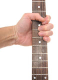 Guitar signature stamp Royalty Free Stock Images