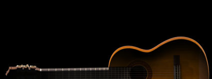 Guitar in silhouette Royalty Free Stock Images