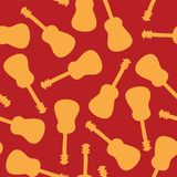 Guitar silhouettes seamless vector pattern tile vector illustration
