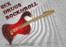 Guitar simbol Royalty Free Stock Images
