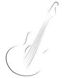 Guitar sketch Stock Images