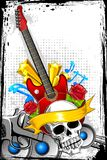 Guitar with Skull Stock Image