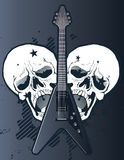 Guitar with skulls Stock Photos