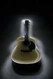 Guitar. Slow exposure of flashlight being passed over a guitar Royalty Free Stock Image