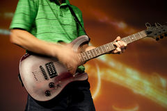 Guitar solo Stock Photo