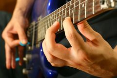Guitar solo Stock Image