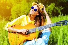 Guitar song Royalty Free Stock Images