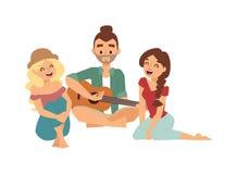 Guitar song vector illustration. Royalty Free Stock Photo