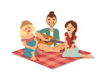 Guitar song vector illustration. Stock Image