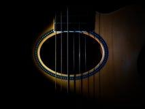Guitar sound hole. Royalty Free Stock Photo
