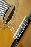 Guitar sound hole Stock Images