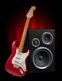 Guitar and speaker vector illustration