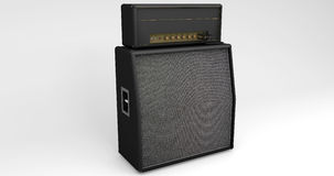 Guitar Speaker and Amplifier on Light Background Royalty Free Stock Photos