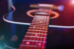 Guitar in the spotlight Stock Photos