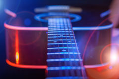 Guitar in the spotlight Royalty Free Stock Image