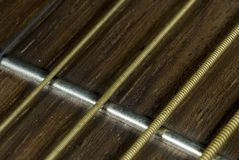 Guitar Srings. Close up of guitar strings royalty free stock image