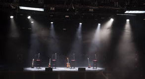 Guitar  on stage before concert Stock Photography