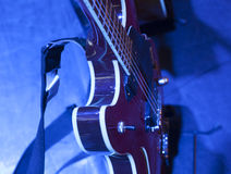 Guitar  on stage before concert Royalty Free Stock Images