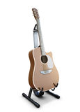 Guitar on a stand. On white background. 3d illustration Royalty Free Stock Photos