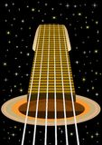 The guitar and the starry sky Stock Images