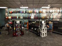 Guitar store Stock Photo