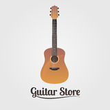 Guitar store vector logo royalty free illustration