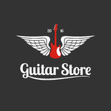 Guitar store vector template logo vector illustration