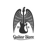 Guitar store vector template logo royalty free illustration