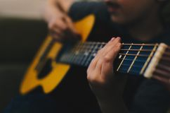 Guitar, String, Hand, Musical Royalty Free Stock Image