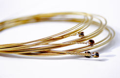 Guitar strings. For an acoustic guitar Royalty Free Stock Image