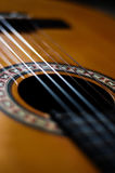 Guitar strings. Close-up of classical guitar strings, very shallow DOF Royalty Free Stock Photography