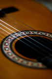 Guitar strings 2. Close-up of classical guitar strings, very shallow DOF Royalty Free Stock Photo