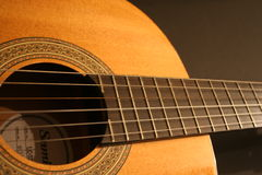 Guitar & strings. Guitar royalty free stock image