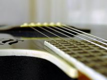 Guitar strings. Nylon guitar strings Stock Photos