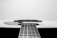 Guitar Strings, close up. Acoustic guitar. Royalty Free Stock Photo