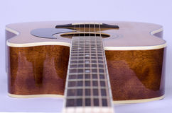 Guitar strings. Guitar and guitar strings closeup royalty free stock photo