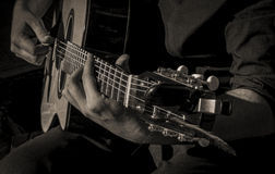 Guitar Strumming Royalty Free Stock Images