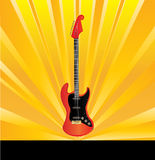 Guitar Sunburst Flyer Stock Photography