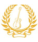Guitar symbol royalty free stock image