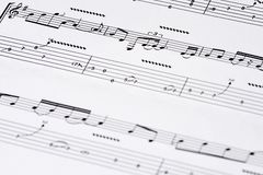 Guitar tab. A guitar tablature showing the beggining of a song Stock Image